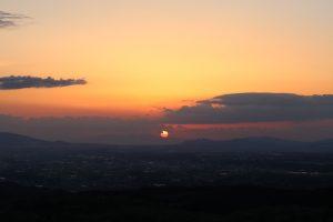 俵山からの夕焼け